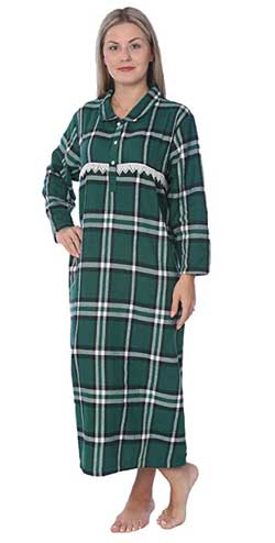 Beverly Rock Full Length Brushed Flannel Nightgown for Plus Size Women