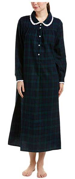 Lanz of Salzburg Women's Long Sleeve Flannel Gown