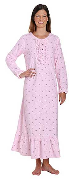 Noble Mount 100% Cotton Long Flannel Nightgown for Women