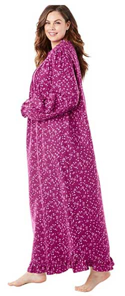 Only Necessities Women's Plus Size Long Flannel Nightgown