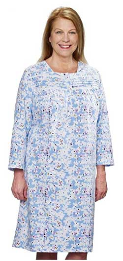Silverts Flannel Open Back Nightgowns for Elderly