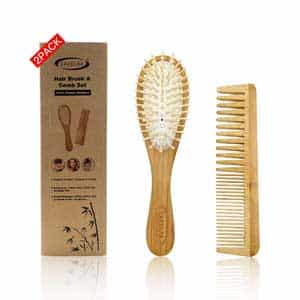 Bamboo Wide Tooth Comb Set