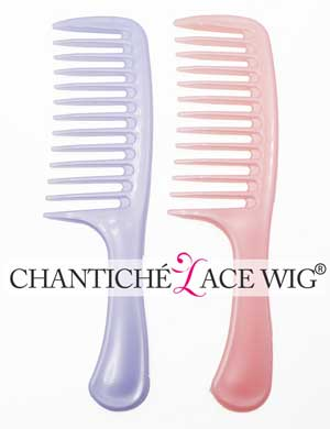 2pcs Wide Tooth Detangling Hair Combs for Chantiche Curly Wigs