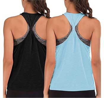 Yoga tank tops with built in bra