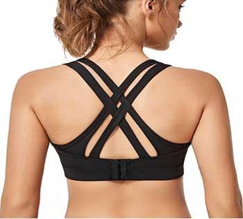 Yvette Women High Impact Sports Bra for Plus Size