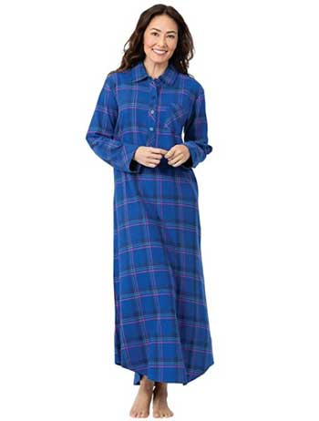 Cotton Flannel Nightgown Plaid