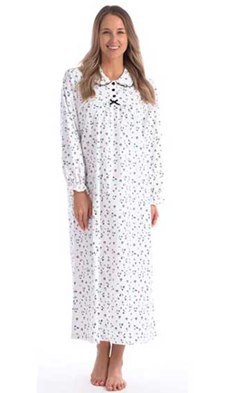 Long Sleeve Flannel Nightgown For Women