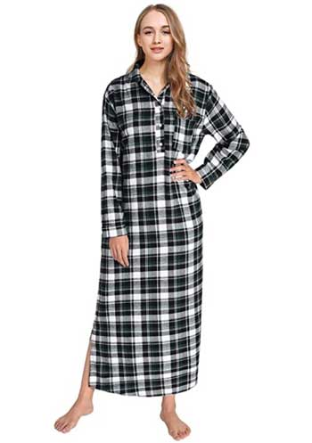 full length flannel nightgown