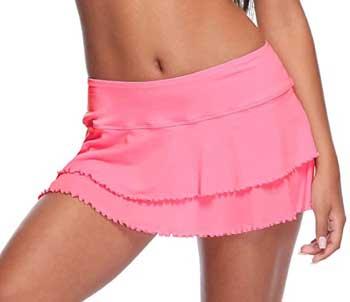 mesh swim skirt