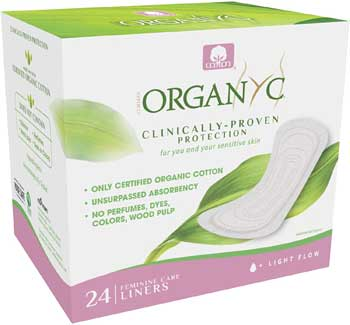 organic cotton panty liners