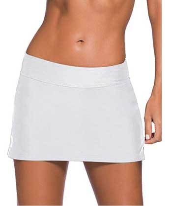 white swim skirt