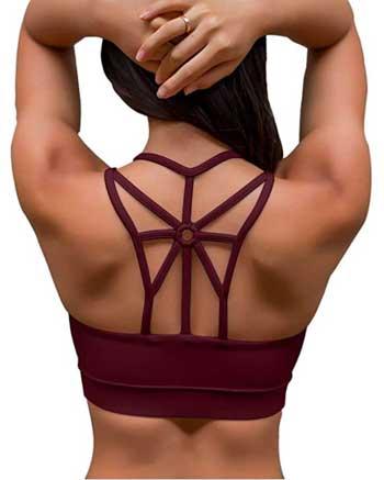 women's push up sports bra