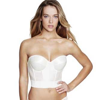 strapless longline bra