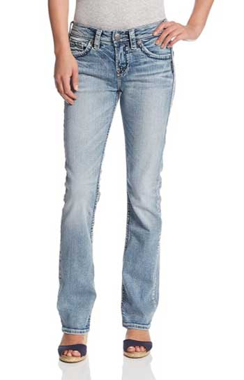Silver Jeans Co. Women's Suki Curvy Fit Jeans For Muffin Tops