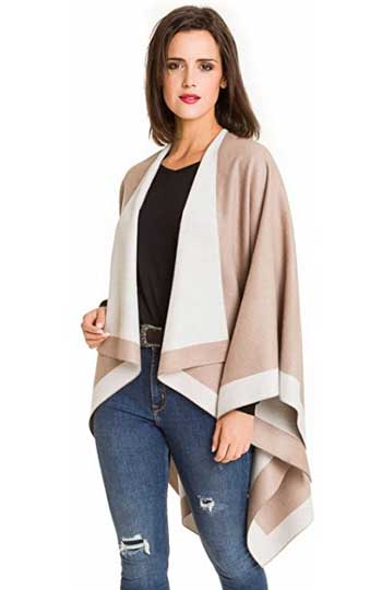 Melifluos Women's Shawl Wrap Poncho Cape Cardigan