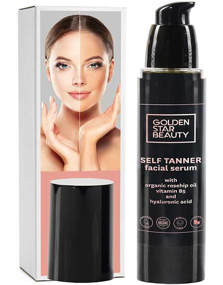 Self Tanner for Face by Golden Star Beauty