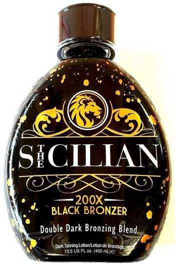 The Sicilian 200X Double Dark Black Bronzer Tanning Lotion