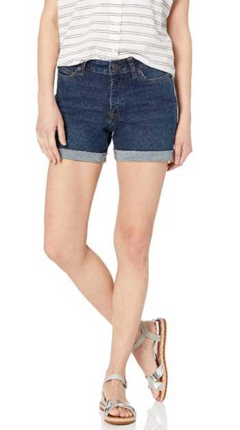 Amazon Essentials Women's Denim Mid-Rise Short
