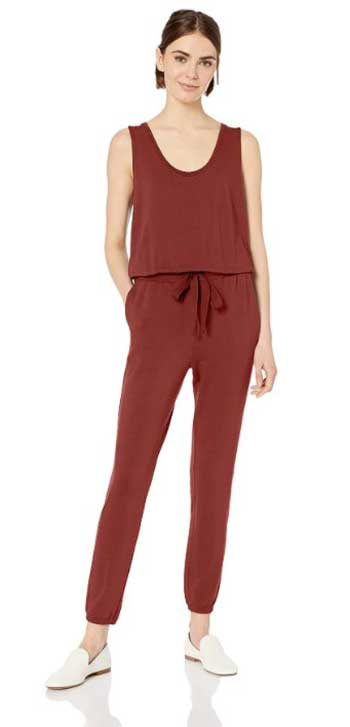 Daily Ritual Women's Relaxed-Fit Sleeveless Jumpsuit