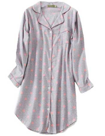 Pnaeong Women's Flannel 100% Cotton Nightgown