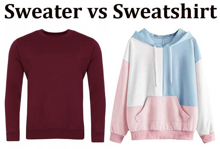 Sweater vs Sweatshirt