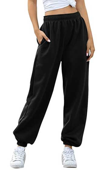 Women's Cinch Bottom Sweatpants With Pockets