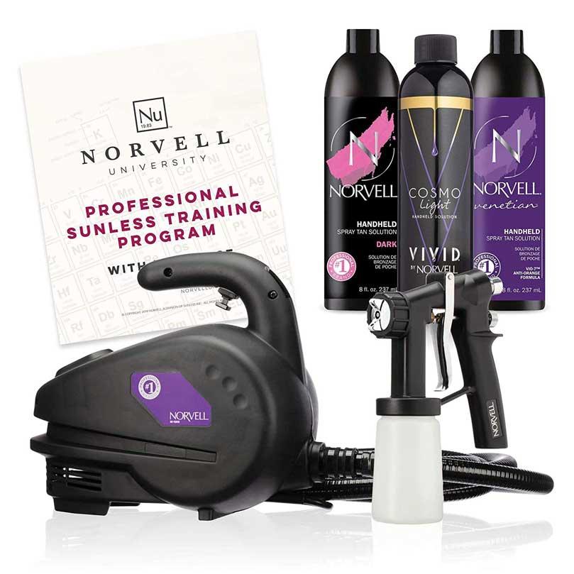 Norvell Sunless Kit - M1000 Mobile HVLP Airbrush Machine